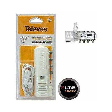 Amplificador interior Televés 5522 de 2 salidas