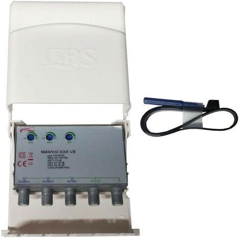 Amplificador Konelco EGB 3 Entradas VHF,UHF UHF 30DB 44635/LTE