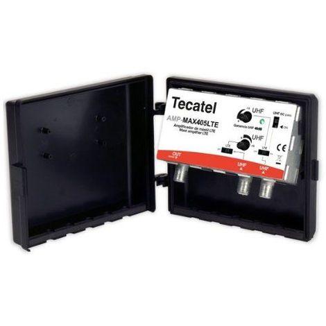 Amplificador mastil Max 40dB UHF-LTE Negro