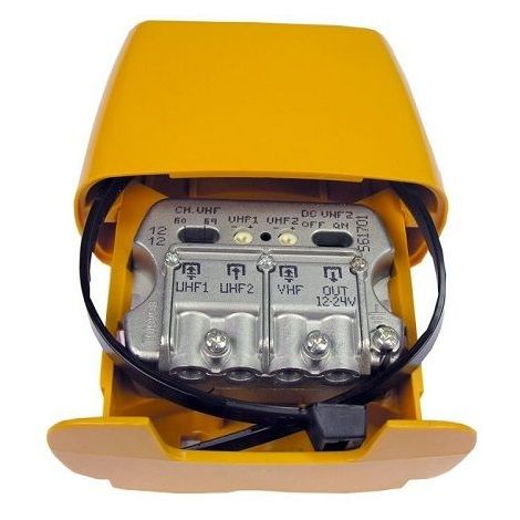 "main image of ""Amplificador mastil nanokom 3e uhf 27 dB Amarillo"""