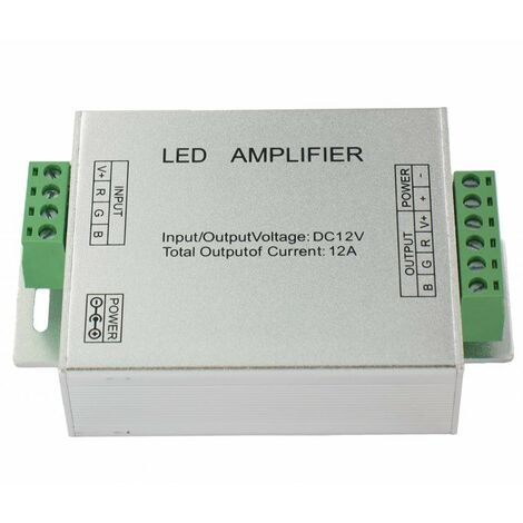 Amplificador para cinta de LED RGB 5050 o 3528 12V