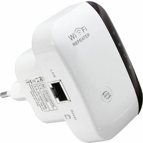 Amplificador repetidor Wifi 300Mbps Enrutador inalámbrico 802.11n Enchufe europeo