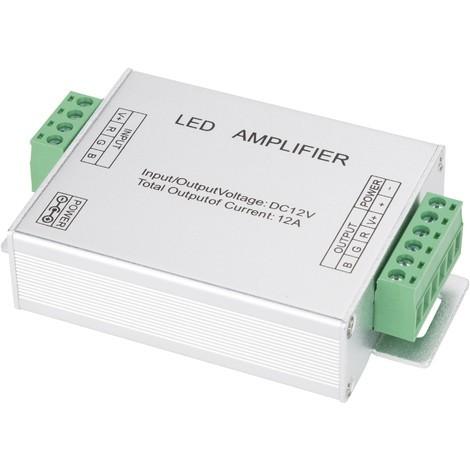 Amplificador RGB 12VDC IP25 Max. 144W (KDAMPRGB12V)