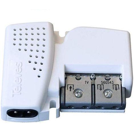 Amplificador TV con filtro LTE 1 entrada - 2 salidas + tv 20 Blanco