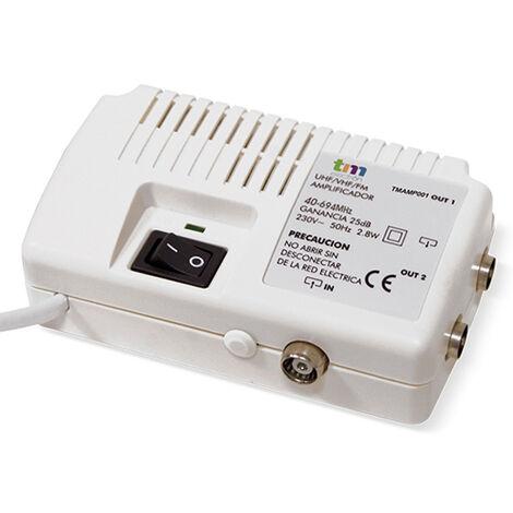 AMPLIFICADOR TV INT. (UHF/VHF) 2 SALIDAS