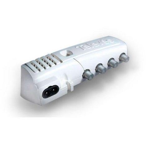 Amplificador TV Interior 2 salidas + TV 20 dB Gris