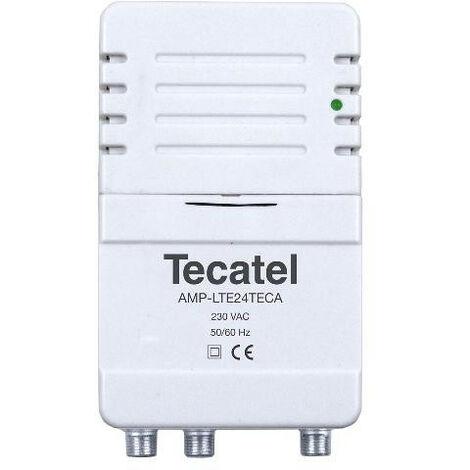 Amplificador Tv TDT Interior vivienda 2 salidas 24db Lte700 5G Amp-lte24tecal