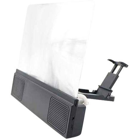 Amplificadores de pantalla de telefono movil, 12 pulgadas, lupa de video 3D