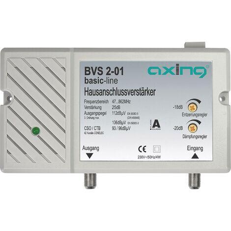 Amplificateur BK avec connexions F 30 dB Axing BVS 2 -01 A44043