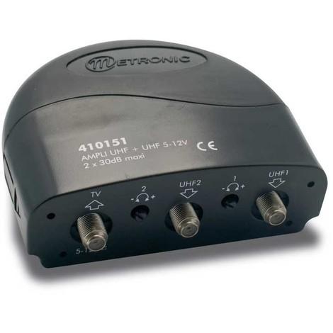 Amplificateur coupleur 2 entrées UHF 30 dB