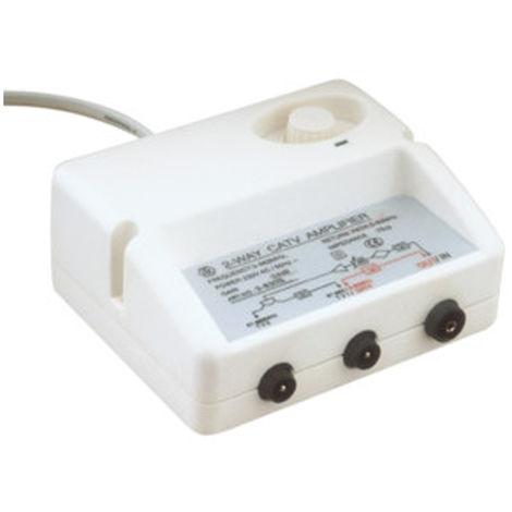 Amplificateur d'antenne TNT Electro DH, faible bruit, potentiomètre de réglage, avec interrupteur, 60.273