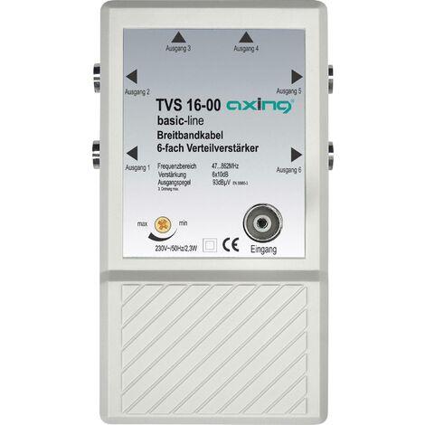 Amplificateur distributeur 6 sorties 10 dB Axing TVS 16 A67968