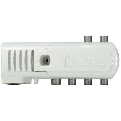 Amplificateur intérieur 5 sorties VHF / UHF CEI LTE prêt Televes 552940