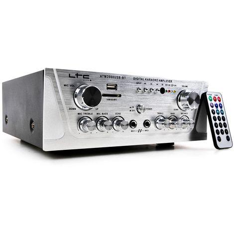 Amplificateur Stereo avec interface USB, SD et Bluetooth