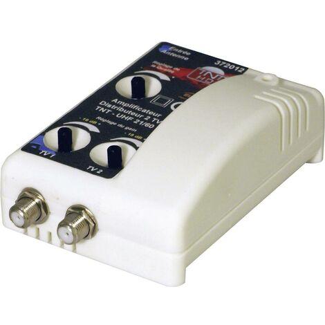 Amplificateur TNT 1 entrée / 2 sorties filtré 4G 15 à 35 dB Elap 372012