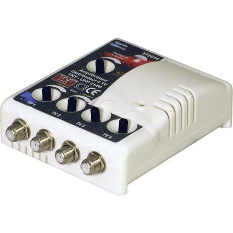 Amplificateur TNT 1 entrée / 4 sorties filtré 4G 15 à 35 dB Elap 372014 V01792