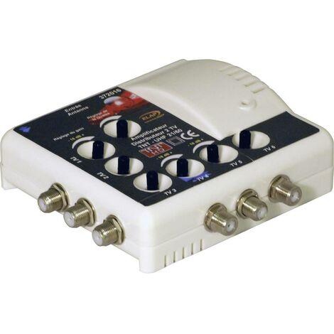 Amplificateur TNT 1 entrée / 6 sorties filtré 4G 23 dB Elap 372016