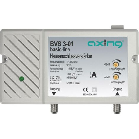 Amplificateur TV Axing BVS 3-01 BVS00301 30 dB 1 pc(s) A44062