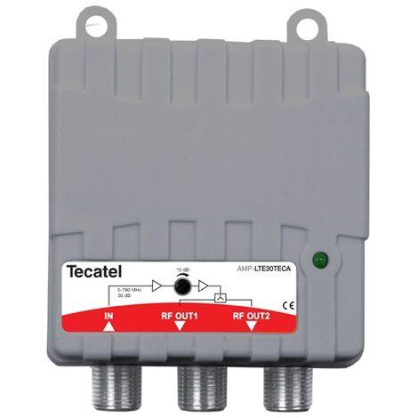 Amplificateur TV d'intérieur 2s 30db Tecatel Amp-lte30teca