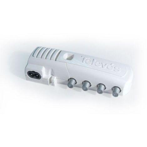 Amplificateur TV intérieur 1Entrée 6 Sorties F Connexion TNT TELEVES 5531