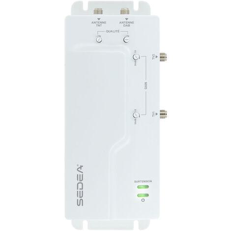 Amplificateur TV intérieur 2 entrées/2 sorties - 30 dB - SEDEA - 912002