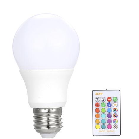 Ampoule 5W Rvb Led E27, Projecteur Multi Couleurs, Telecommande Ir