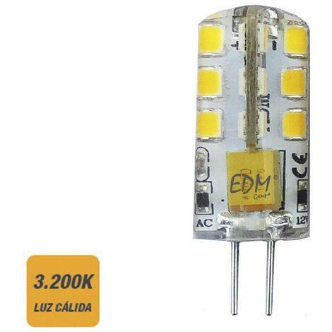 Ampoule à 2 broches 12V LED 2W 180 lumens 3200K série silicone chaude lumière EDM 98913