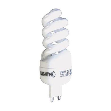 Ampoule à économie dénergie LightMe 9 W forme spiralée 1 pc(s)