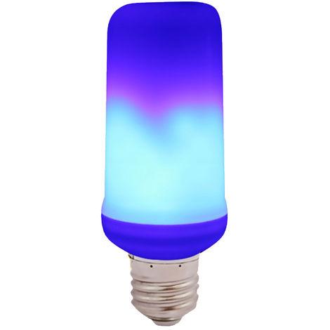 Ampoule A Effet De Flamme Led, Base Standard E27, Bleu