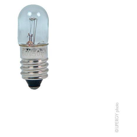 Ampoule à filament E10 10X28 60V 50MA