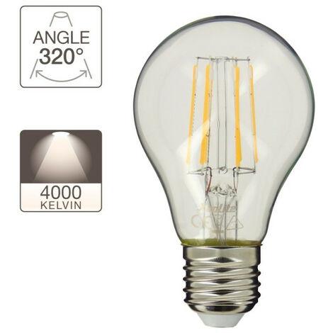 Ampoule à filament LED A60, culot E27, 4W cons. (40W eq.), lumière blanc neutre | Xanlite