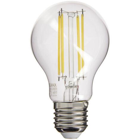 Ampoule à filament LED A60, culot E27, 7,5W cons. (60W eq.), lumière blanc neutre   Xanlite