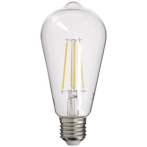 Ampoule à filament LED Edison, culot E27, 8W cons. (75W eq.), 1055 lumens, lumière blanc neutre | Xanlite