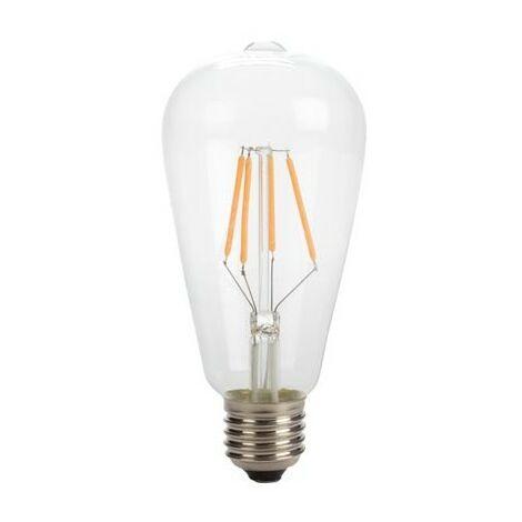 Ampoule à filament led - style retro - st64 - 4 w - e27 - blanc chaud intense