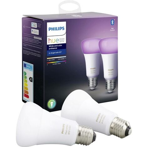 Ampoule à LED EEC: A+ (A++ - E) Philips Lighting White and Color Ambiance 929002216803 E27 Puissance: 9 W RVBB 9 k