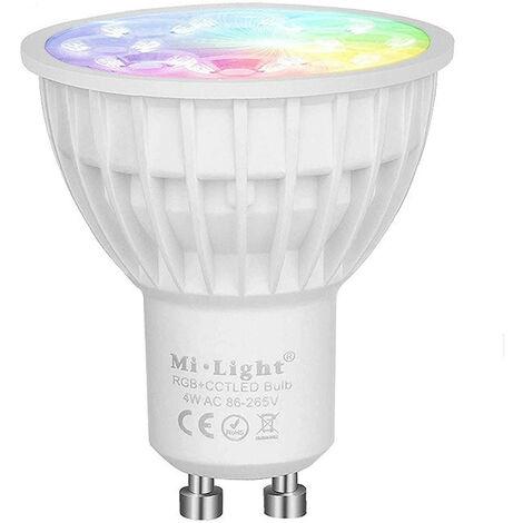 Ampoule à LED GU10 4W RGB+CCT RF 2.4Ghz LED 4W RGB+CCT 2.4Ghz