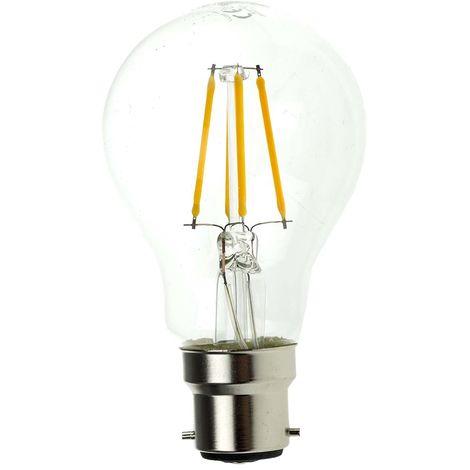 Ampoule à LED, puissance 7 W - 60W, Variation lumière, culot B22, 806 lm, Blanc chaud, 240 V c.a.