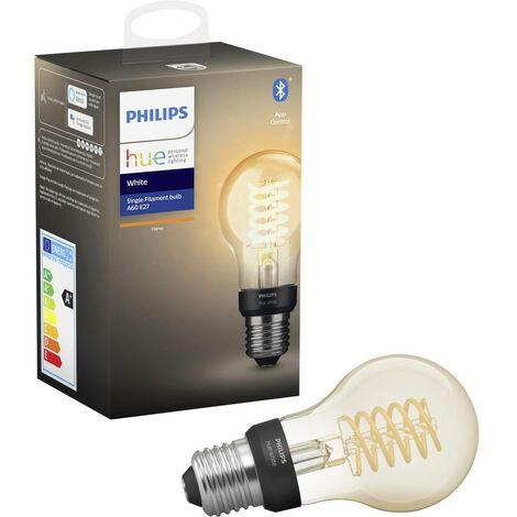 Ampoule à LED (simple) Hue Philips Lighting 929002240901 E27 7 W blanc chaud 1 pc(s)