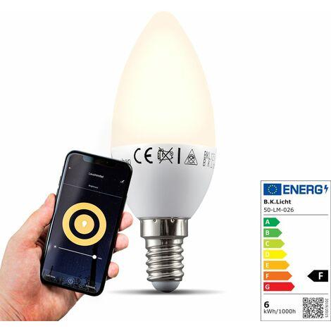 """main image of """"Ampoule connectée LED dimmable commande vocale par Appli compatible Alexa Google Home E14 5,5W blanc chaud 2700K"""""""