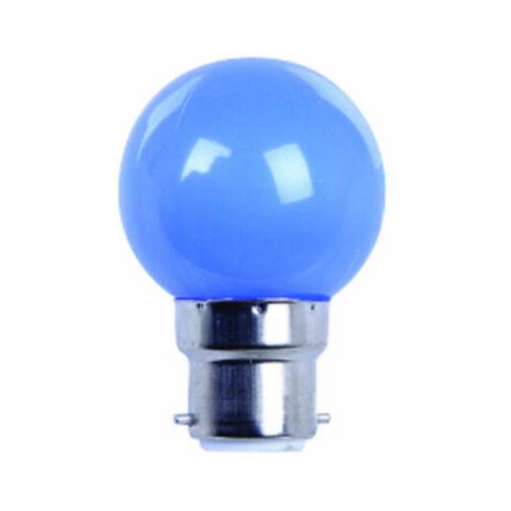 AMPOULE COULEUR LED BLEUE B22