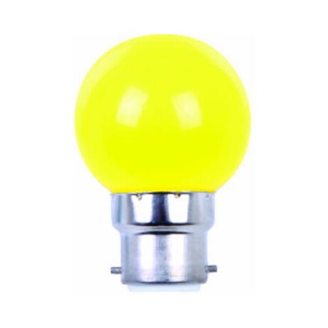 AMPOULE COULEUR LED JAUNE B22