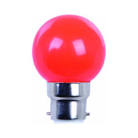 AMPOULE COULEUR LED ROUGE B22 - Rouge