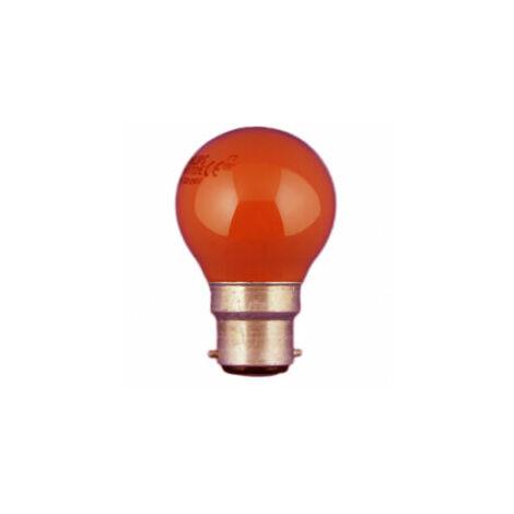 Ampoule Couleur ROUGE Sphérique 230V 15W B22D BOITE