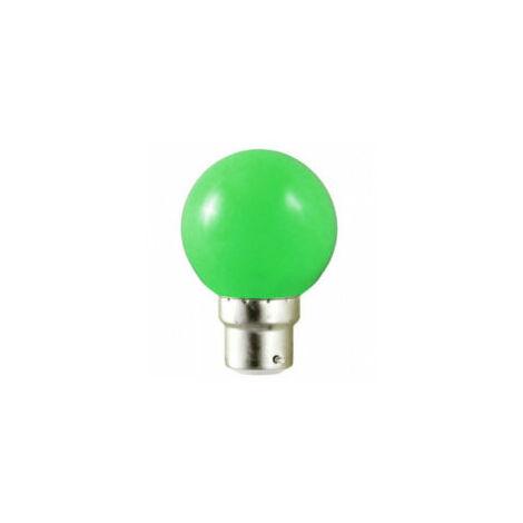 Ampoule Couleur VERTE Sphérique 230V 15W B22D BOITE