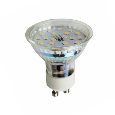 Ampoule culot GU10 LED 4.5W - Blanc Chaud - Transparent