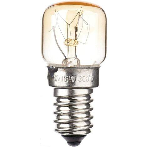 Ampoule De Four, Ampoule E14 Edison, Ampoule De Lampe De Sel, Petite Ampoule De Réfrigérateur À Vis, Ampoules D'appareils Ménagers Multi-applications, 220-240V, Blanc Chaud, 15W / 25W