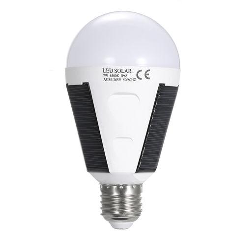 Ampoule De Globe De Ac86-265V 7W E27 Led, Ampoule De Secours De Remplissage Solaire