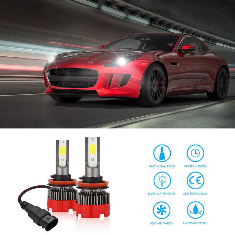 Happyshopping - Ampoule de phare a LED H11 2pcs Ampoule de phare halogene haute performance, ampoule de rechange pour feux de route, feux de