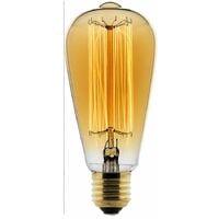 Ampoule Déco filament carbone Edison 25W E27 2700K (blanc chaud)