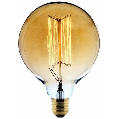 Ampoule Déco filament carbone Globe Ø125 25W E27 2700K (blanc chaud)
